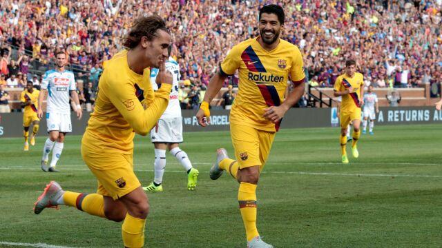 """Barcelona rozbiła Napoli w 15 minut. Zieliński """"przytłoczony aktywnością rywali"""""""