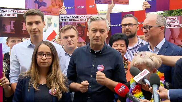 Robert Biedroń zabrał głos przed Marszem Równości w Płocku