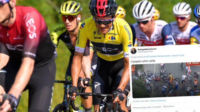 Kilkunastu kolarzy leżało, wśród nich lider. Kraksa na królewskim etapie Tour de Pologne