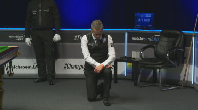 Niespodziewany gest przed meczem snookera