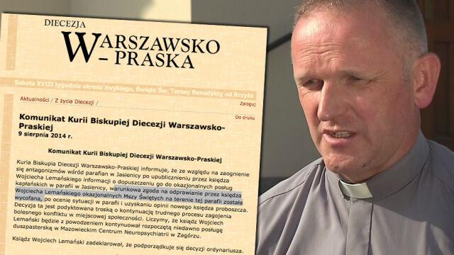 """""""W Jasienicy sytuacja jest jeszcze gorąca"""". Ksiądz Lemański nie odprawi mszy w dawnej parafii"""