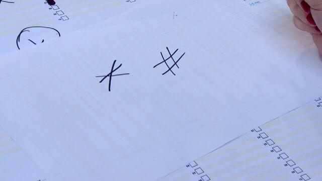 Pytania o znak 'x' - nie dwie, a co najmniej dwie linie