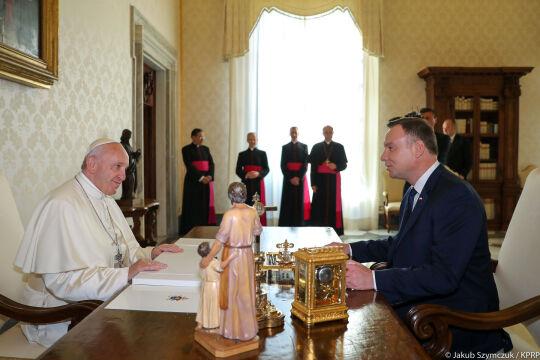 Spotkanie pary prezydenckiej z papieżem Franciszkiem