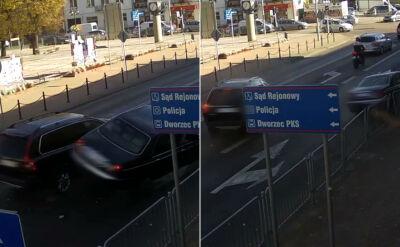Zderzenie dwóch samochodów w Łukowie