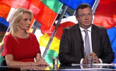 """Wiceminister sprawiedliwości Michał Wójcik w """"Faktach po Faktach"""" w TVN24"""