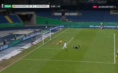 Puchar Niemiec. Eintracht Brunszwik - Borussia Dortmund 0:2. Gol Jadon Sancho