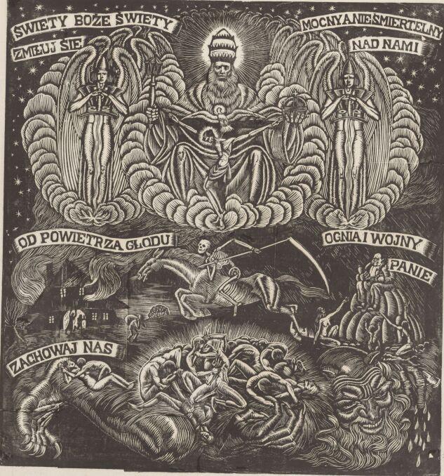 """Władysław Skoczylas - """"Święty Boże (Wojna)"""""""