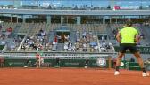 Szalona wymiana w końcówce 2. seta meczu Nadal – Djoković w półfinale French Open