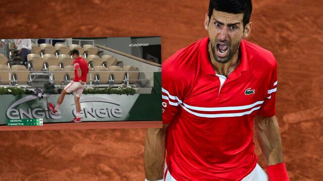 Wybuch Novaka Djokovicia. Nie panował nad emocjami