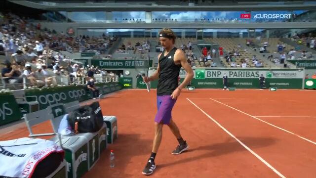 Zverev wygrał 4. seta w półfinale French Open