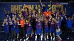 Barca odebrała trofeum za wygranie Ligi Mistrzów piłkarzy ręcznych