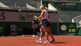 Krejcikova i Siniakova przełamane w 8. gemie 1. seta finału French Open