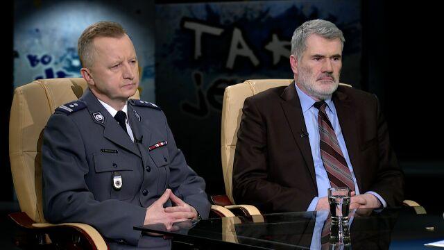 mł.insp. Tomasz Piechowicz i Piotr Strzembosz w Tak Jest