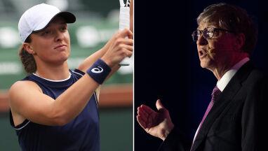 Iga Świątek żartobliwie do Billa Gatesa