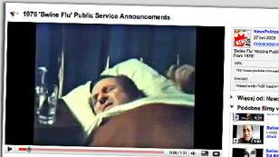 Propagandowy spot o świńskiej grypie z 1976 r.