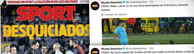 Barcelona czuje się oszukana.