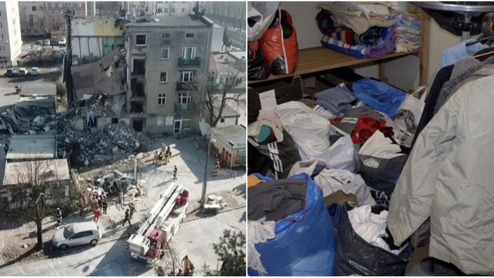 Zbiórka dla mieszkańców zawalonej kamienicy.  Potrzebują ubrań, koców i środków czystości