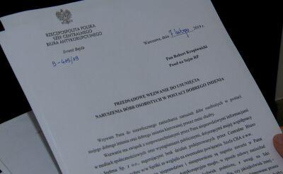 Szef CBA wysłał wezwanie przedsądowe posłom PO