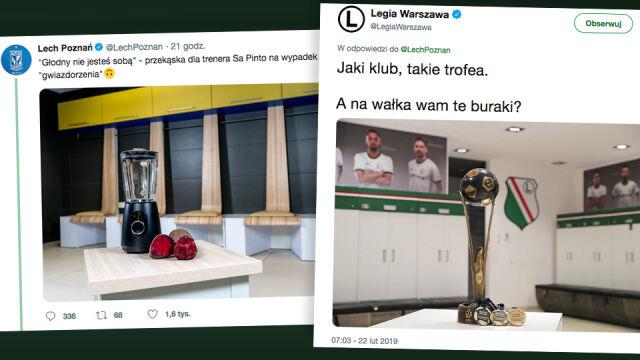 """Walka Lecha z Legią rozpoczęła się w internecie. """"Jaki klub, takie trofea"""""""
