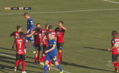 Skrót meczu Sławija Mozyrz - BATE Borysów w półfinale Pucharu Białorusi