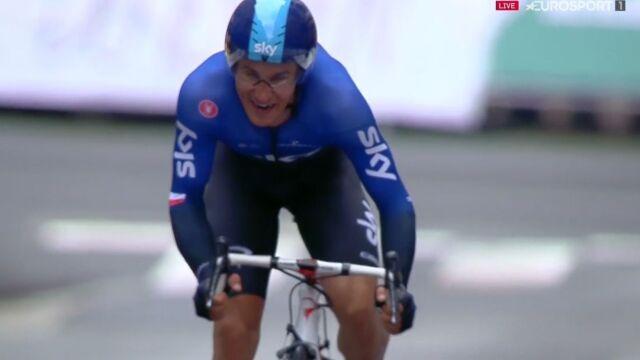 Rocznica. Kwiatkowski miał problemy, ale skończył na podium 1. etapu Wyścigu dookoła Kraju Basków
