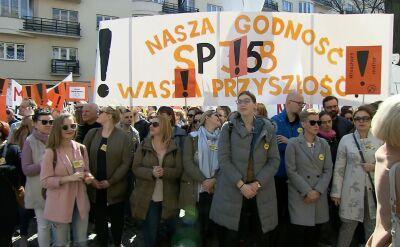 Demonstracja nauczycieli przed Ministerstwem Edukacji Narodowej