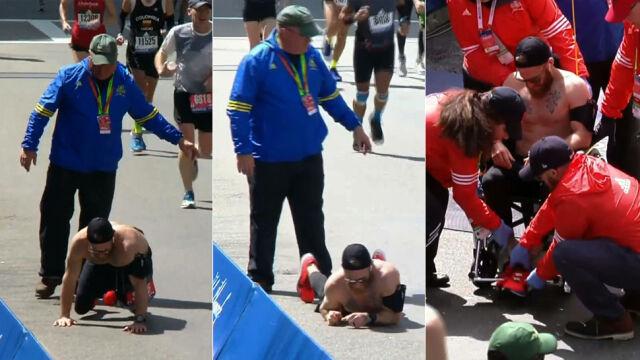 Czołgając się do mety maratonu. Wyczerpany powtarzał nazwiska poległych kolegów