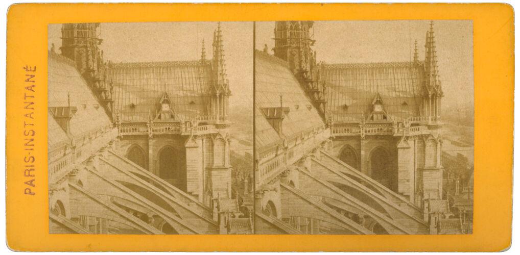 Notre-Dame fotografia stereoskopowa,  odbitka na papierze albuminowym, 1895r.