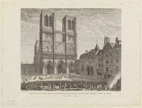 Notre-Dame, Prieur Jean-Louis akwaforta, 1791-1802r.