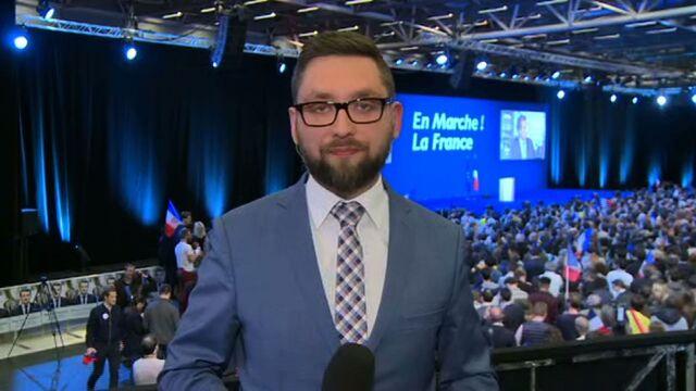 MichałTracz w sztabie Emmanuela Macrona