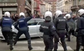 Incydent w Molenbeek zarejestrowała ekipa TVN24