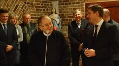 Bartosz Kownacki spotkanie z ojcem Tadeuszem Rydzykiem, luty 2016 r.