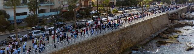 170 kilometrów żywego łańcucha. Libańczycy zjednoczeni