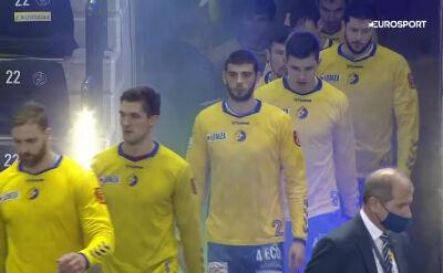 Skrót meczu Łomża VIVE Kielce - Mieszkow Brześć w 4. kolejce Ligi Mistrzów piłkarzy ręcznych
