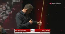 Remis po pierwszej sesji meczu Robertson - Selby w półfinale English Open
