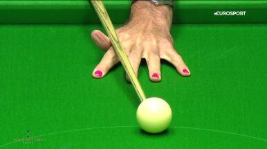 O'Sullivan gra z różowymi paznokciami. Chce zwrócić uwagę na ważny temat