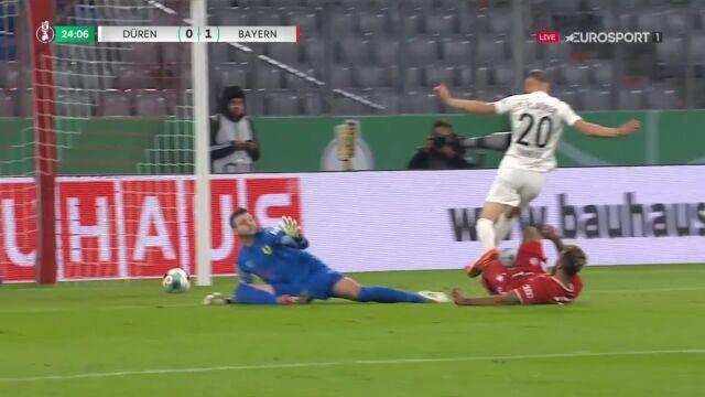 Puchar Niemiec. FC Dueren - Bayern Monachium 0:1. Gol Maxim Choupo-Moting