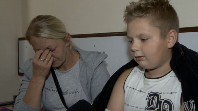 Twelve-year-old Dawid smashed a window and pulled his family out of the burning building