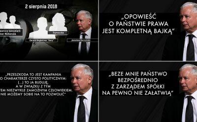 Jarosław Kaczyński rozmawia w sprawie wieżowców przy Srebrnej