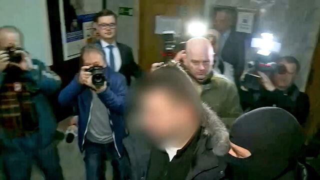 Bartłomiej M. doprowadzony na salę sądową