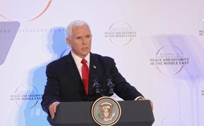 Pence: zgodziliśmy się, że największym zagrożeniem jest Iran
