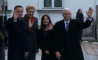 Prezydent Andrzej Duda spotkał się z wiceprezydentem USA w Belwederze
