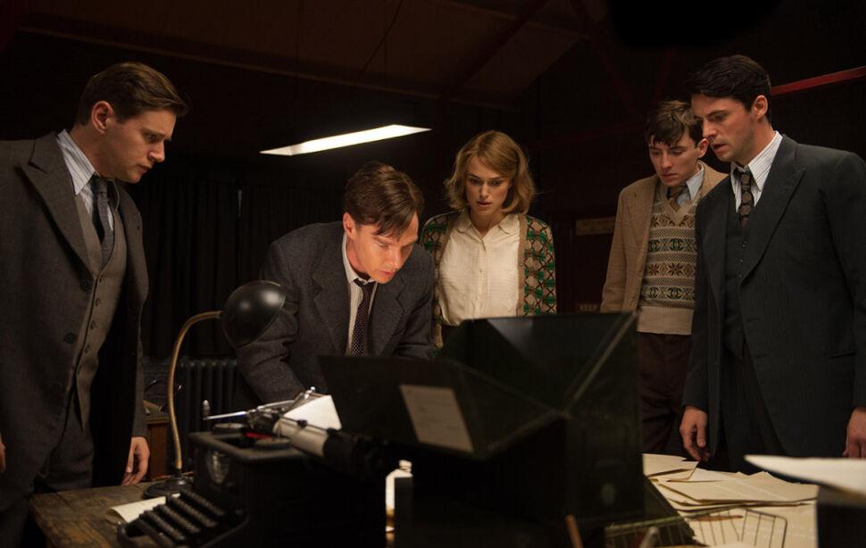Allen Leech, Benedict Cumberbatch, Keira Knightley, Matthew Beard i Matthew Goode
