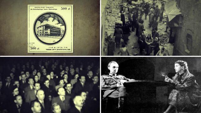 Powojenny Teatr Żydowski we Wrocławiu.  Za wsparcie budowy dawali sardynki i kalesony