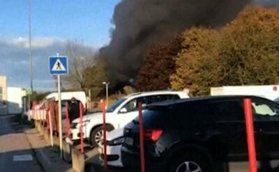 Eksplozja i pożar przy lotnisku w Linz