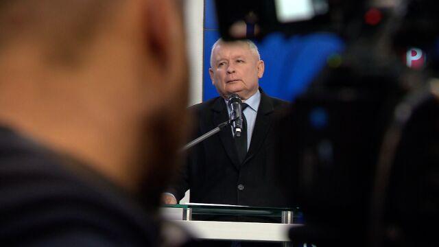 Jarosław Kaczyński w Sosnowcu mówił o nowych elitach