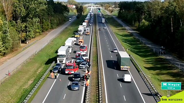 Accident involving six cars on S8 expressway