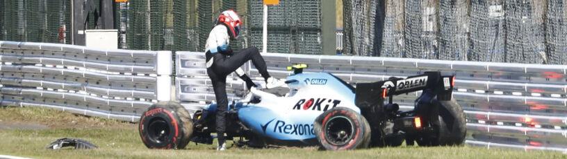 """Kubica rozbił bolid w kwalifikacjach. """"Sami sobie szukamy guza"""""""