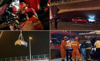 Trzy ofiary zawalenia się mostu w Chinach