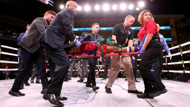 Amerykański bokser w śpiączce po ciężkim nokaucie